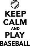 Keep Calm and Play Baseball Stock Photography