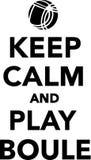 Keep calm and play boule vector illustration