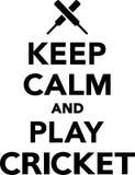 Keep Calm and Play Cricket Stock Photos