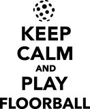 Keep calm and play floorball. Vector illustration Royalty Free Stock Image