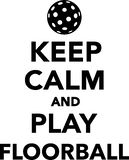 Keep calm and play floorball. Vector Royalty Free Stock Images