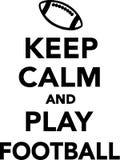 Keep calm and play football. Vector illustration Stock Photography