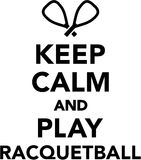 Keep calm and play Racquetball Royalty Free Stock Photo