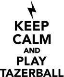 Keep calm and play tazerball. Vector Stock Image