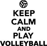 Keep Calm and Play Volleyball Royalty Free Stock Image