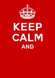 Keep calm poster Royalty Free Stock Photography