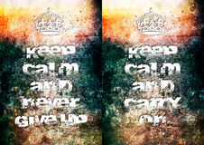 Keep calm posters Stock Photography