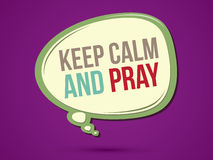 Keep calm and pray. Text in balloons graphic vector Royalty Free Stock Image