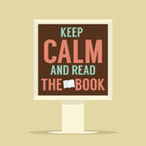 Keep Calm And Read The Book Stand Poster Royalty Free Stock Photo