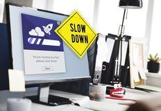 Keep Calm Reduce Speed Relax Slow Down Concept Stock Images