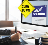 Keep Calm Reduce Speed Relax Slow Down Concept Stock Image