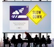 Keep Calm Reduce Speed Relax Slow Down Concept Royalty Free Stock Images