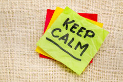Keep calm reminder note Stock Images