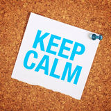 Keep Calm Royalty Free Stock Photos