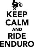 Keep calm and ride enduro. Vector Royalty Free Stock Image