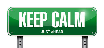 keep calm road sign illustration design Royalty Free Stock Images