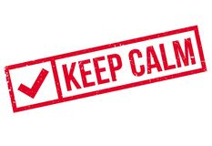 Keep Calm rubber stamp Royalty Free Stock Photography