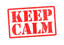 KEEP CALM. Rubber Stamp over a white background Stock Photography