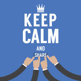 Keep Calm And Share Royalty Free Stock Photo
