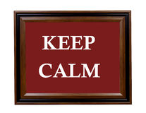 Keep Calm sign Royalty Free Stock Photography