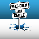 Keep calm and smile Royalty Free Stock Images