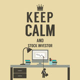 Keep Calm And Stock Investor. Royalty Free Stock Photos