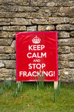 Keep Calm and Stop Fracking Royalty Free Stock Images