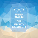 Keep calm summer vintage polygonal abstract Royalty Free Stock Photo