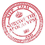 Keep Calm And Survive The Apocalypse Stamp Royalty Free Stock Image