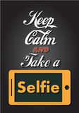 Keep Calm and Take a Selfie Royalty Free Stock Photography