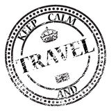 Keep Calm And Travel Stamp Royalty Free Stock Images