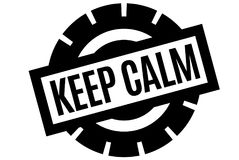 Keep Calm typographic stamp. Typographic sign, badge or logo Royalty Free Stock Photo
