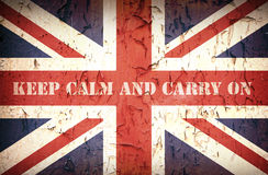 Keep calm Union Jack. Second World War Union Jack, with patriotic slogan that was used by the British Government to strenghten public morale in 1939 stock photos