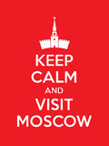 Keep calm and visit Moscow poster. With Cremlin Stock Photos