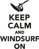 Keep calm and windsurf on Royalty Free Stock Photography