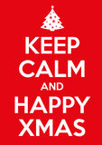 Keep calm xmas. Original graphic elaboration keep calm poster stock photo