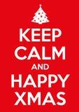 Keep calm xmas. Original  graphic elaboration keep calm poster Stock Photo