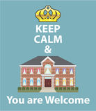 Keep Calm and You are Welcome vector Royalty Free Stock Photo