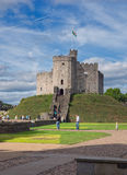 The keep of Cardiff Castle, Wales Stock Images