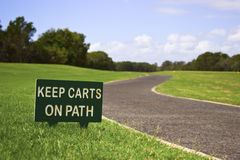 Keep carts on path Stock Image