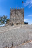 Keep of castle where the first king of Portugal imprisoned his mother Stock Image