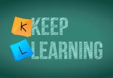 Keep che impara concetto di istruzione Fotografia Stock Libera da Diritti