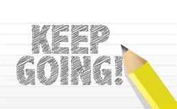 Keep che va, nel concetto di motivazione royalty illustrazione gratis