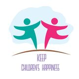 Keep children's happiness Royalty Free Stock Photos