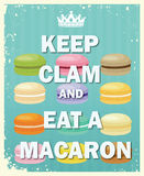 Keep Clam and eat Macaroon Royalty Free Stock Image