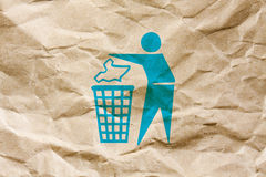 Keep clean. A keep clean symbol on a brown wrinkled paper Royalty Free Stock Photos