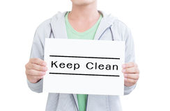 Keep Clean Stock Photography