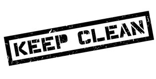 Keep Clean rubber stamp Stock Photography