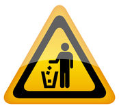 Keep clean sign stock illustration