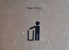 Keep Clean Sign Stock Photo